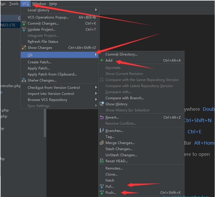 PHPStorm配合Git的使用